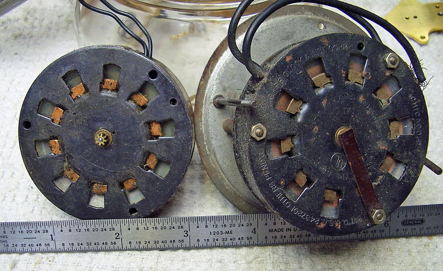 Old Lanshire Black Round Clock Motor Ss2